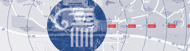 Graphic of map of insight park and logo